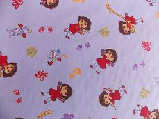 DORA THE EXPLORER DISNEY FABRIC 100% COTTON PER 1 METRE 155 CM WIDE
